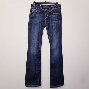 Miss Me Size 26 Bootcut Bedazzled Blue Jeans